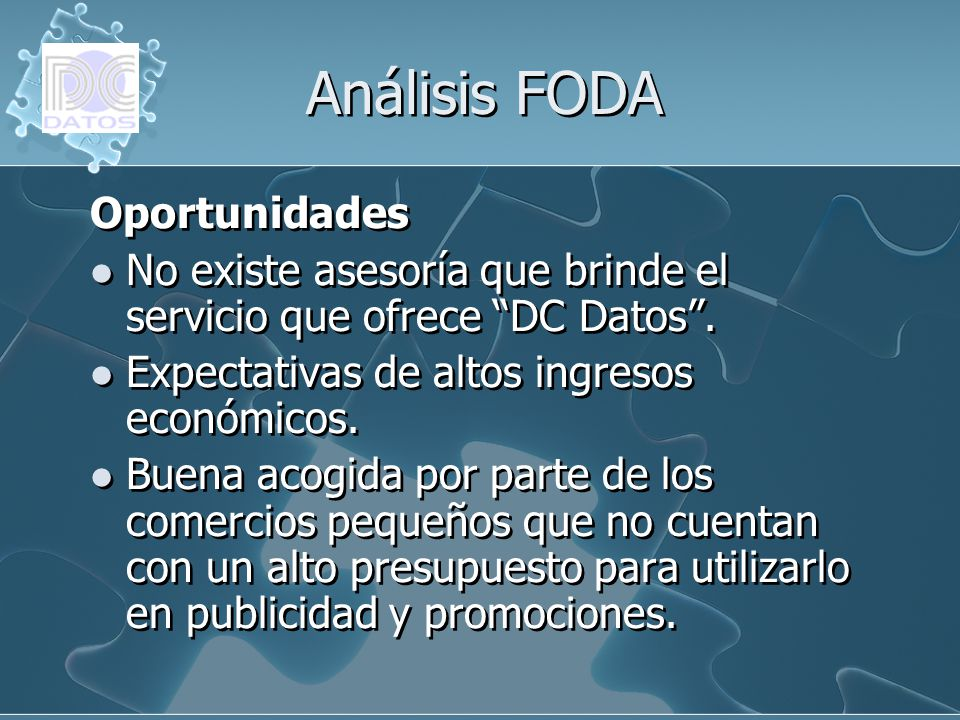 Análisis FODA Oportunidades