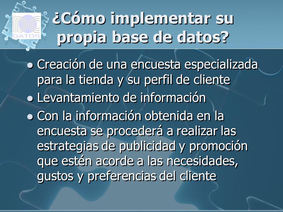 ¿Cómo implementar su propia base de datos