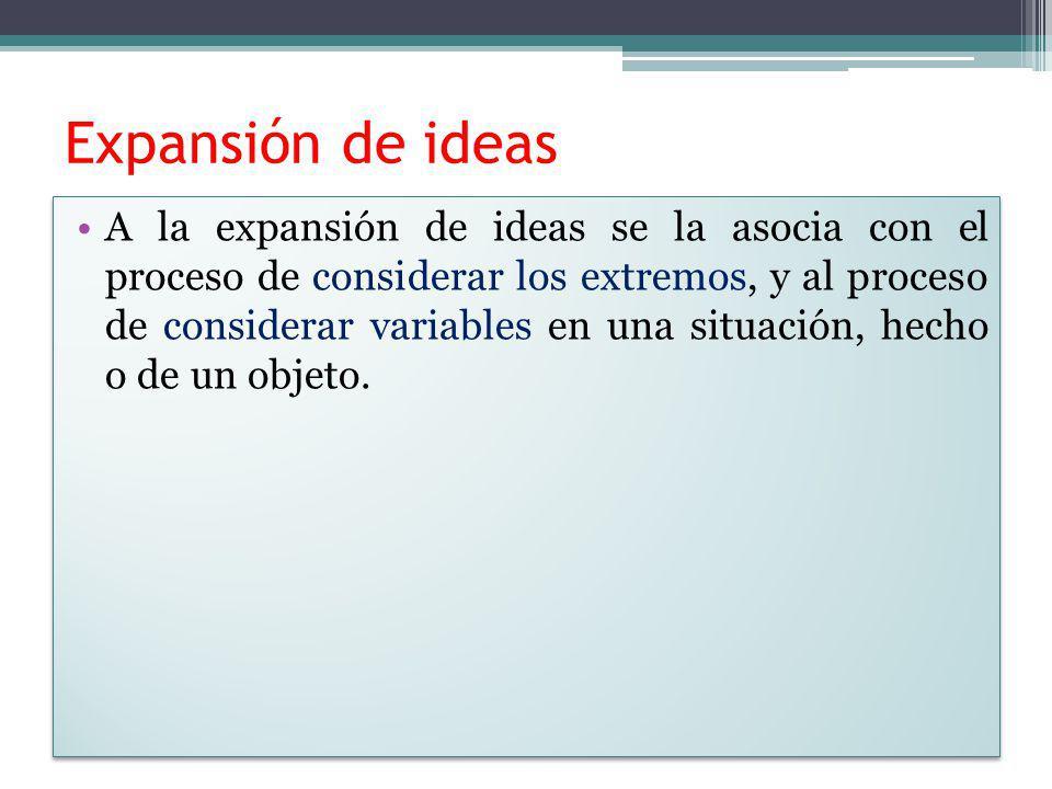 Expansión de ideas