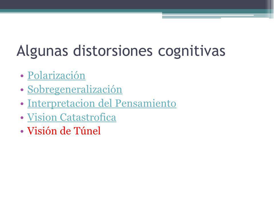 Algunas distorsiones cognitivas