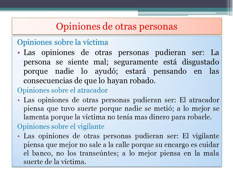 Opiniones de otras personas