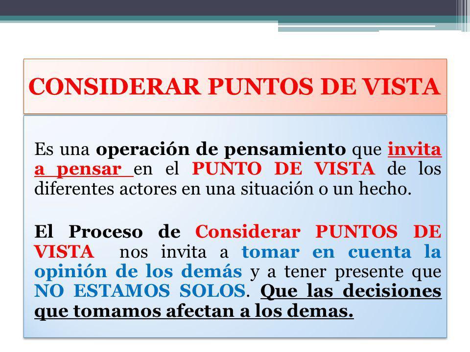 CONSIDERAR PUNTOS DE VISTA