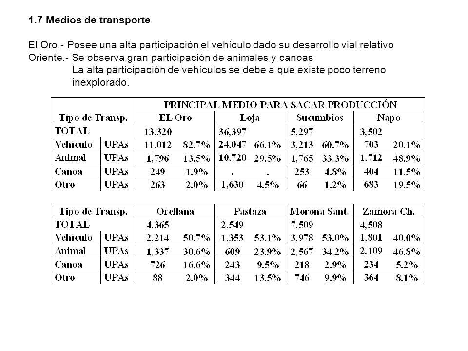 1. 7 Medios de transporte El Oro