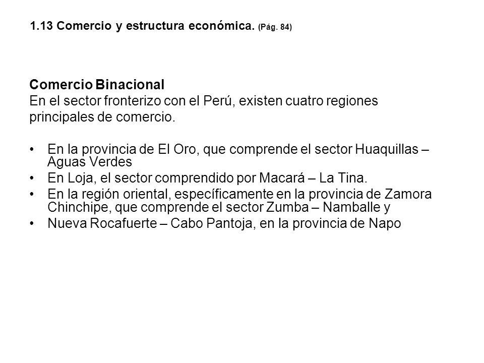 1.13 Comercio y estructura económica. (Pág. 84)