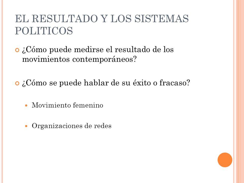 EL RESULTADO Y LOS SISTEMAS POLITICOS