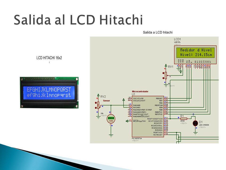 Salida al LCD Hitachi