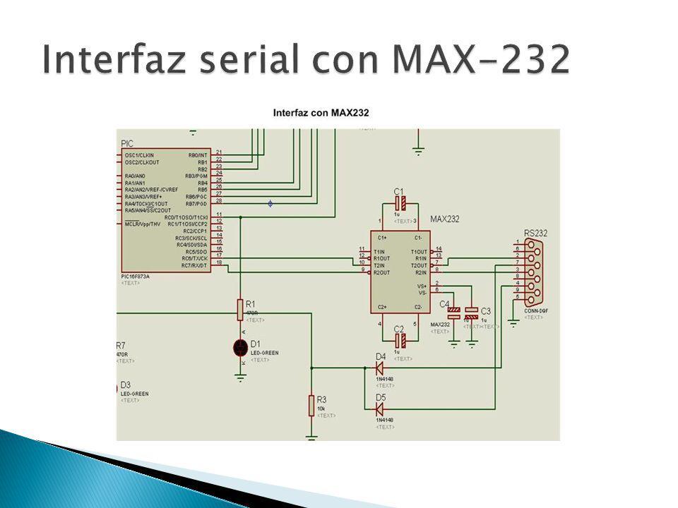 Interfaz serial con MAX-232