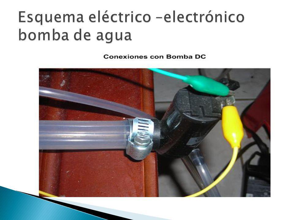 Esquema eléctrico –electrónico bomba de agua