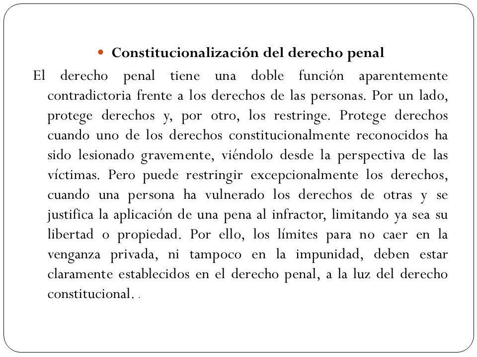Constitucionalización del derecho penal