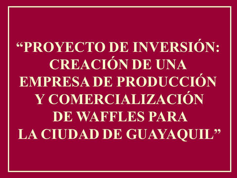 PROYECTO DE INVERSIÓN: LA CIUDAD DE GUAYAQUIL