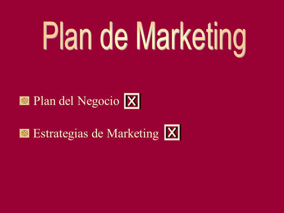 Plan de Marketing Plan del Negocio Estrategias de Marketing x x