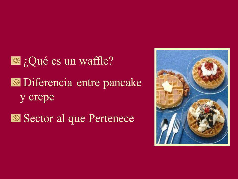¿Qué es un waffle Diferencia entre pancake y crepe Sector al que Pertenece