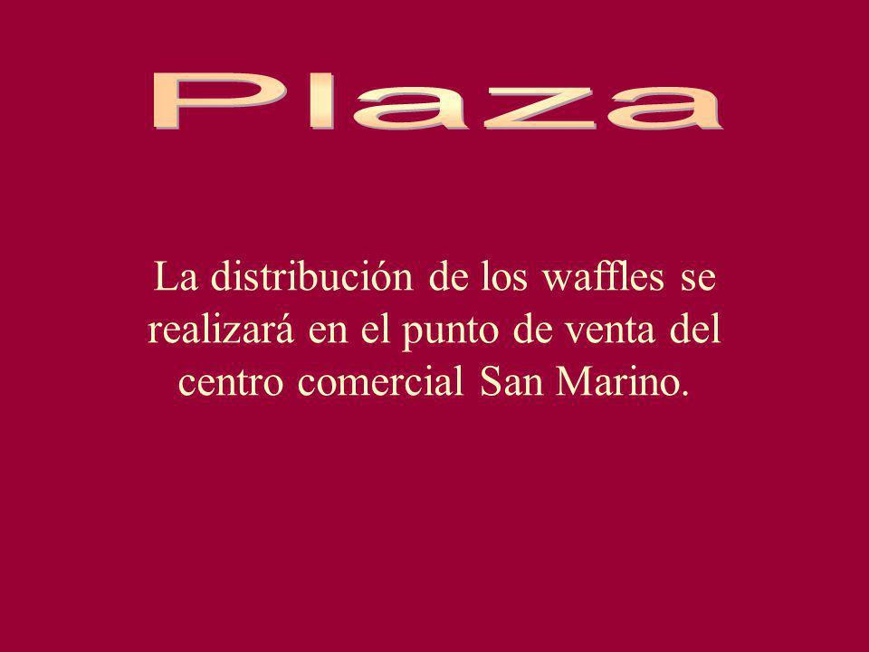 Plaza La distribución de los waffles se realizará en el punto de venta del centro comercial San Marino.