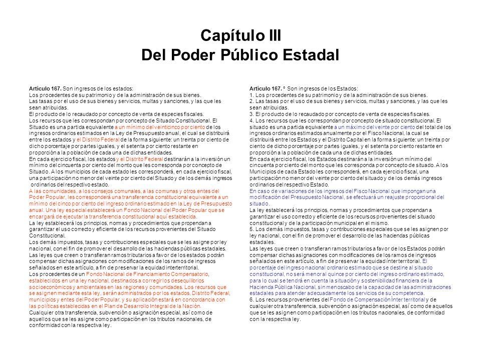 Capítulo III Del Poder Público Estadal