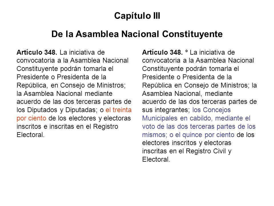 Capítulo III De la Asamblea Nacional Constituyente