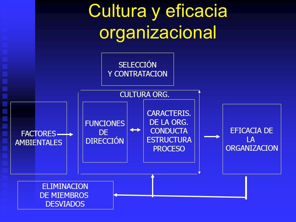 Cultura y eficacia organizacional
