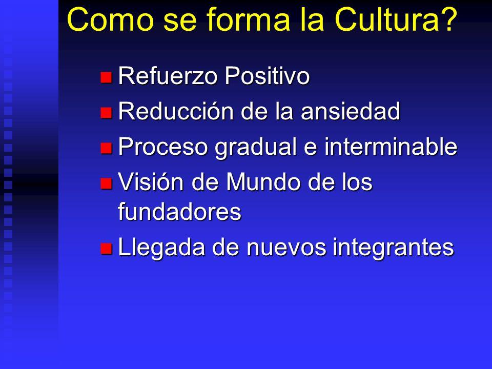 Como se forma la Cultura