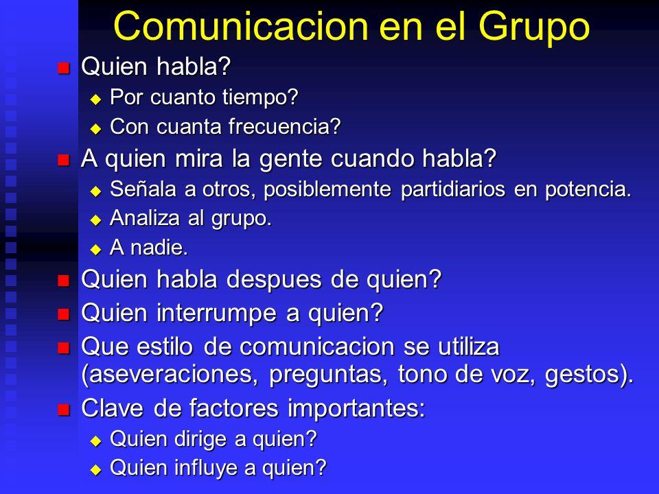 Comunicacion en el Grupo