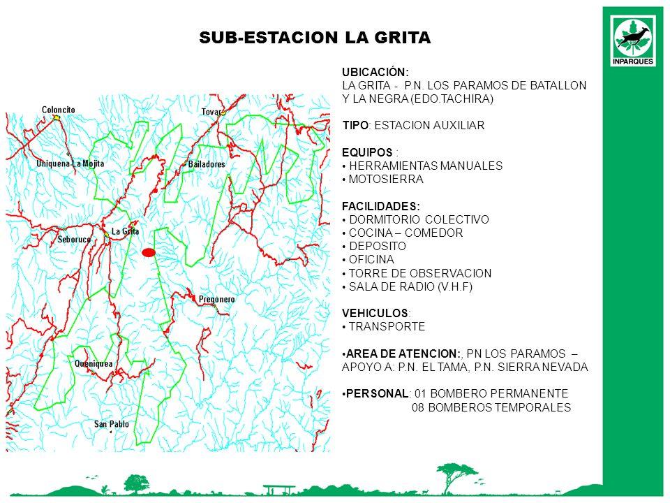 SUB-ESTACION LA GRITA UBICACIÓN: