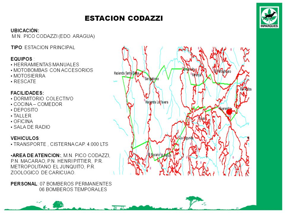 ESTACION CODAZZI UBICACIÓN: M.N. PICO CODAZZI (EDO. ARAGUA)