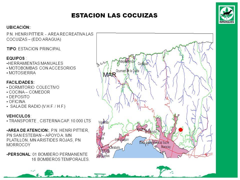 ESTACION LAS COCUIZAS MAR UBICACIÓN: