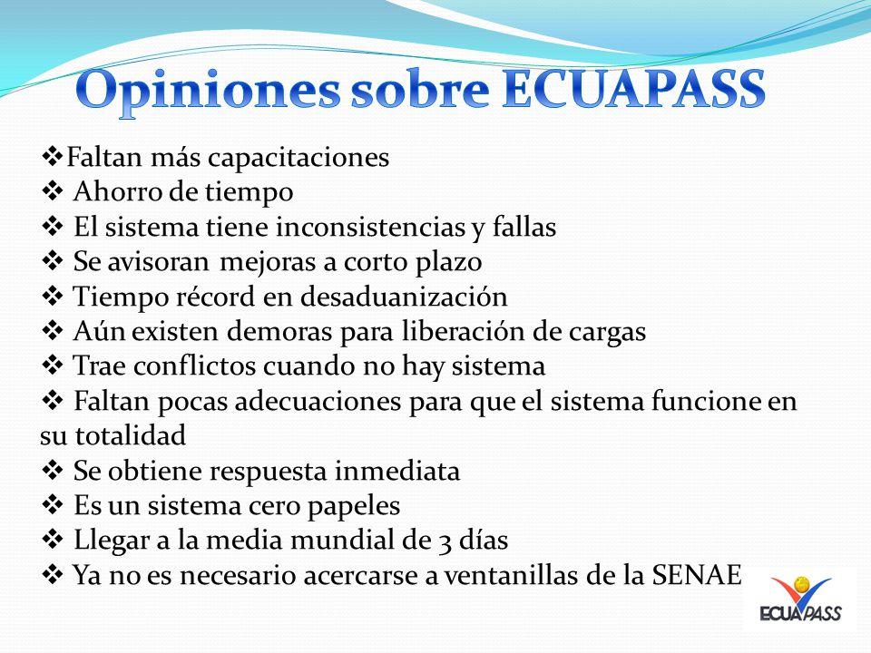 Opiniones sobre ECUAPASS