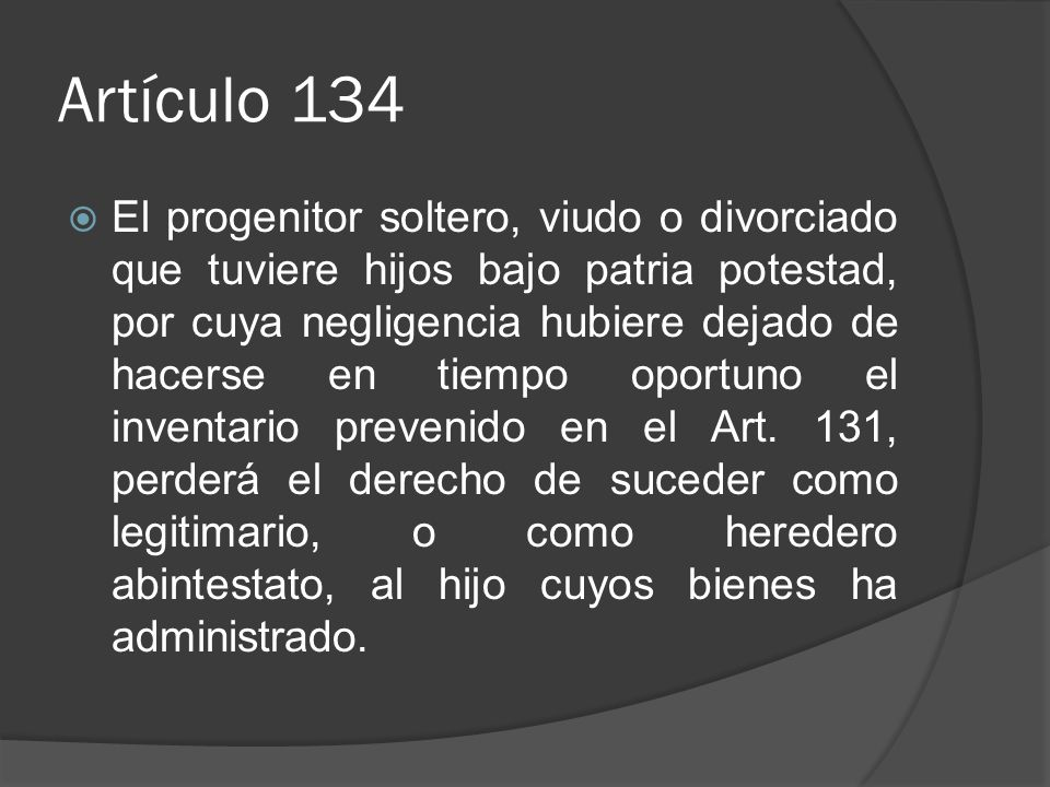Artículo 134