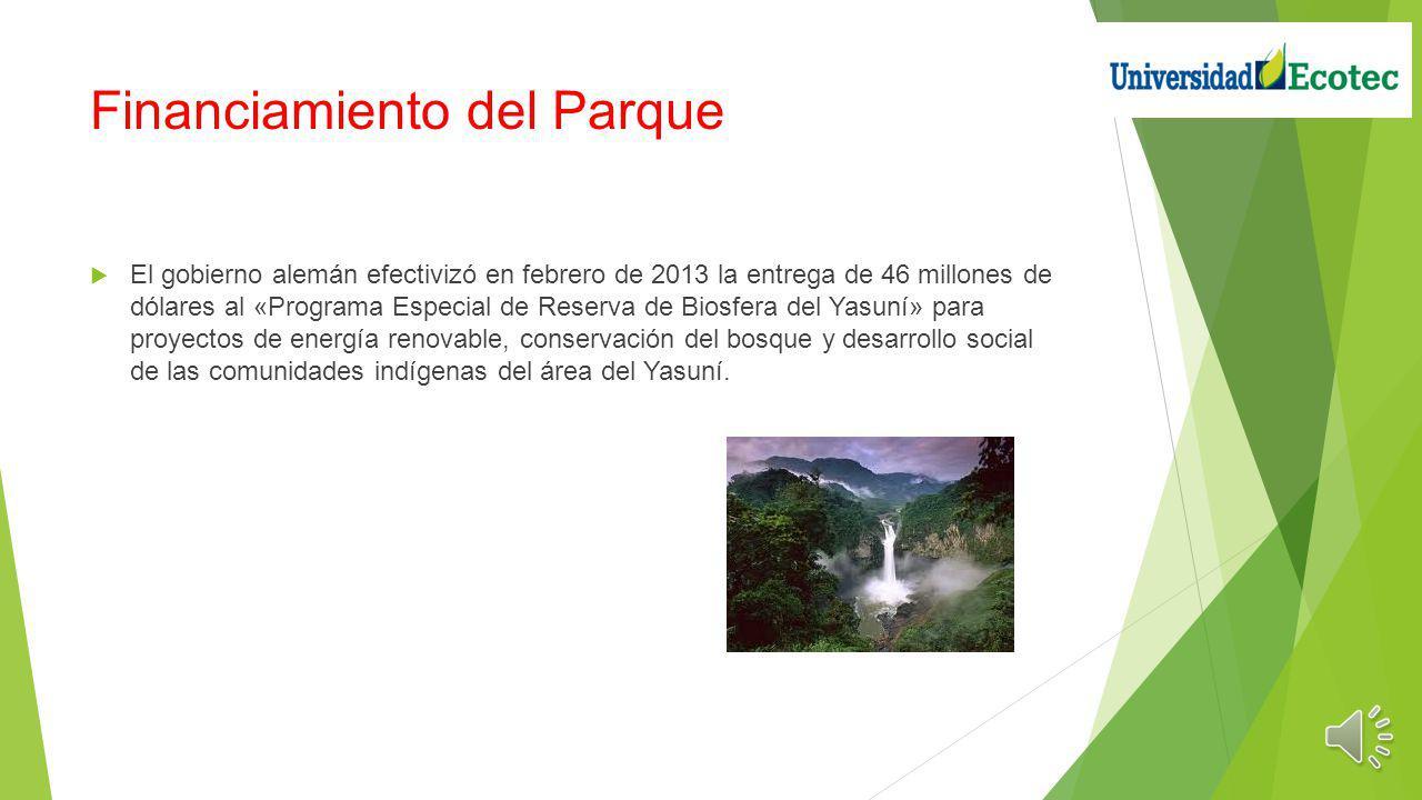 Financiamiento del Parque