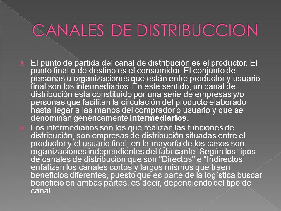 CANALES DE DISTRIBUCCION