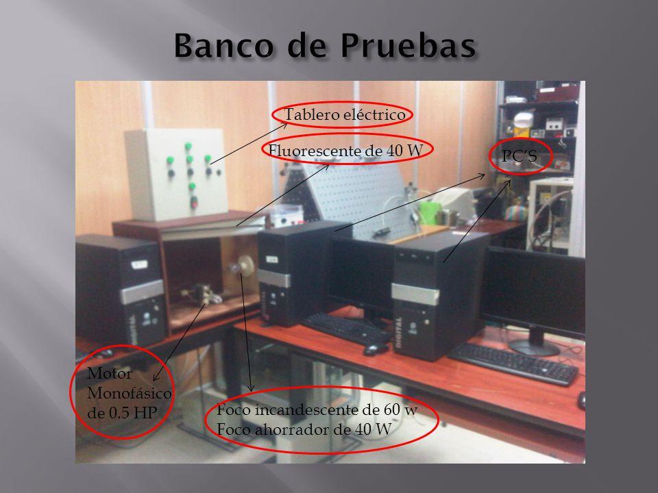 Banco de Pruebas Tablero eléctrico Fluorescente de 40 W PC'S