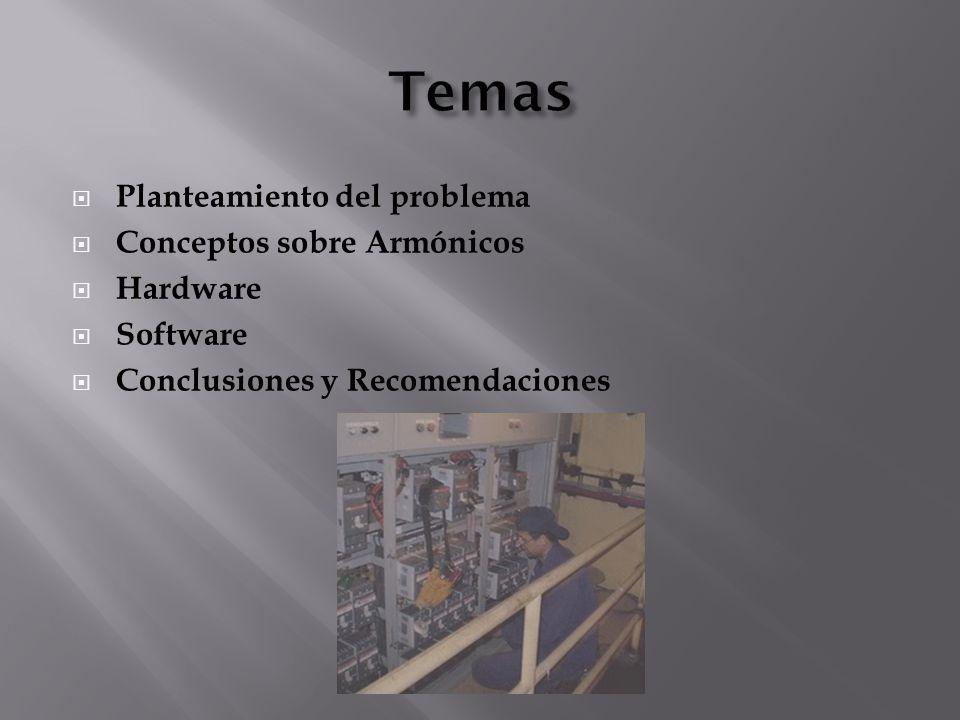 Temas Planteamiento del problema Conceptos sobre Armónicos Hardware
