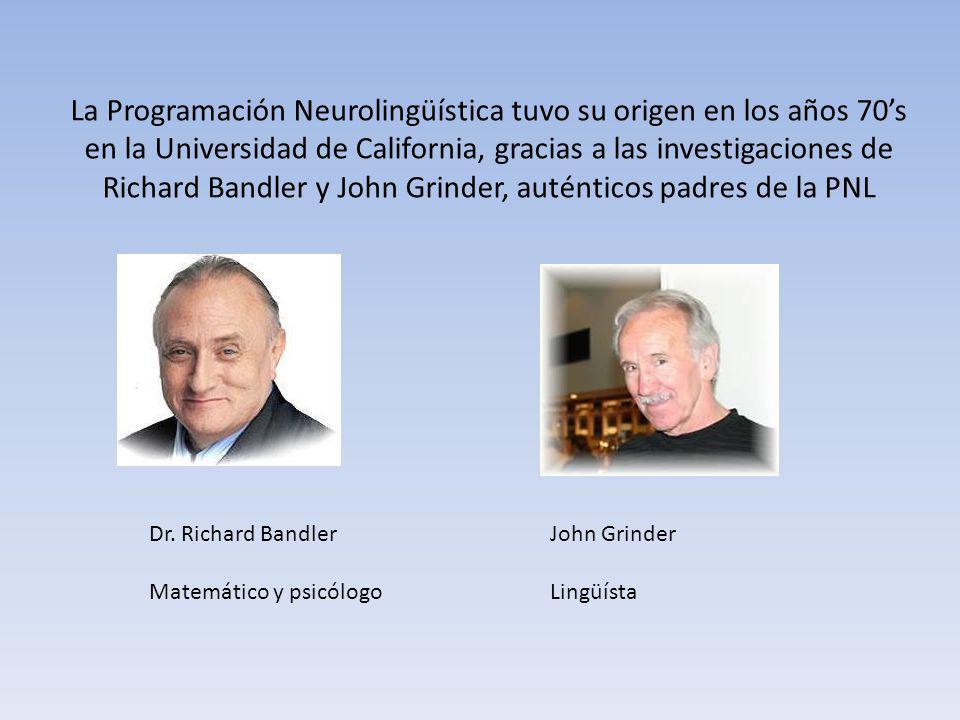 La Programación Neurolingüística tuvo su origen en los años 70's en la Universidad de California, gracias a las investigaciones de Richard Bandler y John Grinder, auténticos padres de la PNL