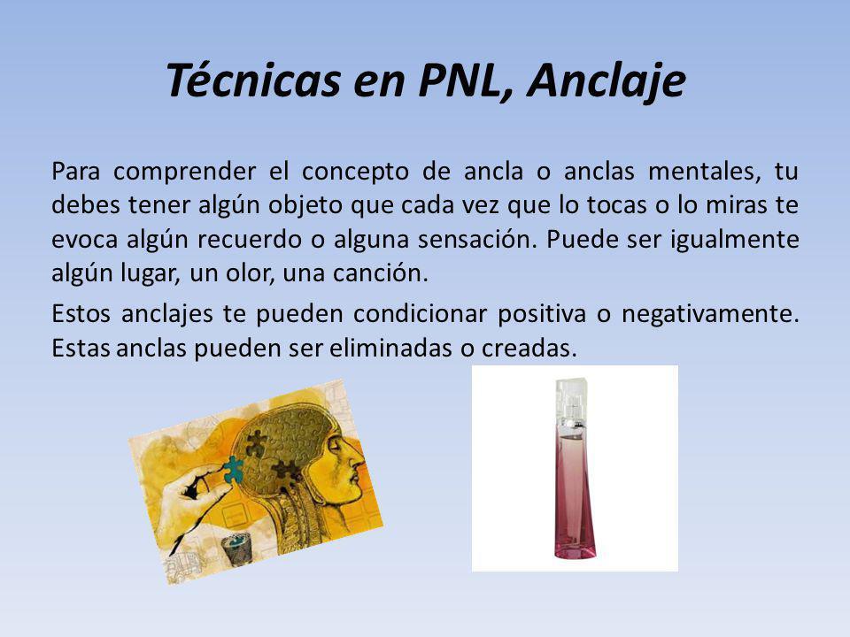 Técnicas en PNL, Anclaje