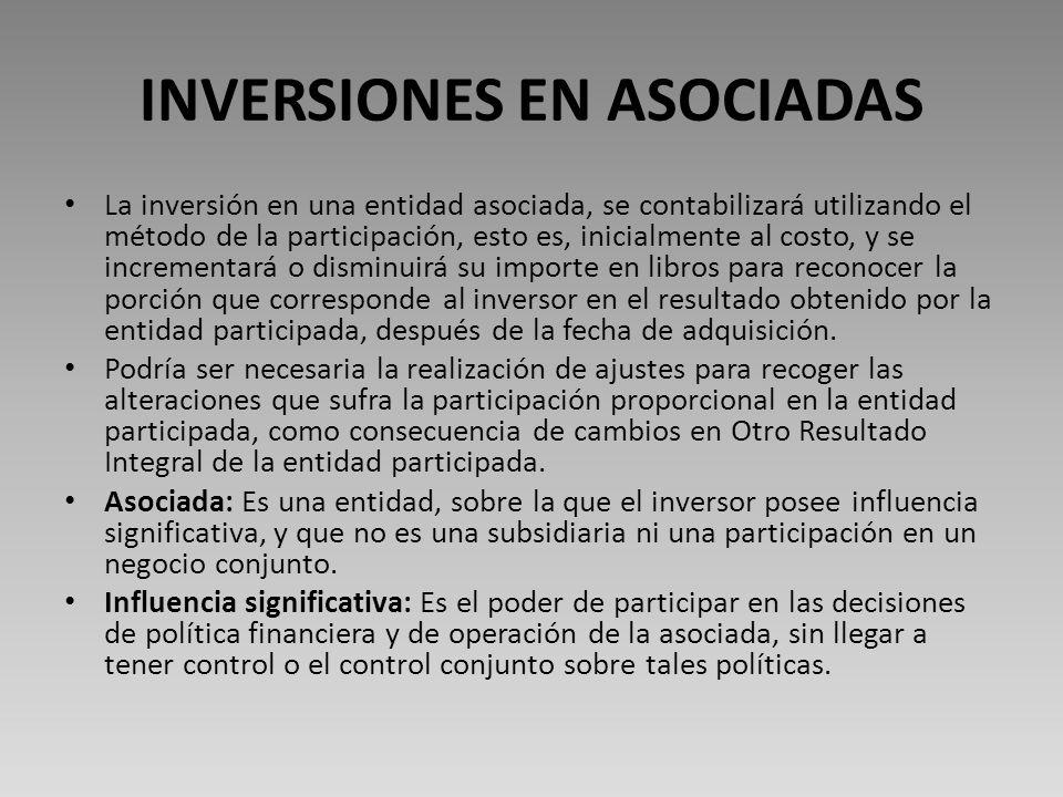 INVERSIONES EN ASOCIADAS