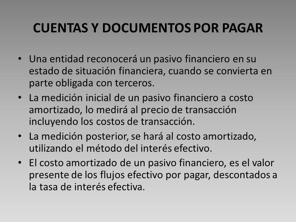 CUENTAS Y DOCUMENTOS POR PAGAR