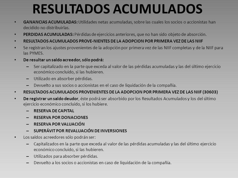 RESULTADOS ACUMULADOS