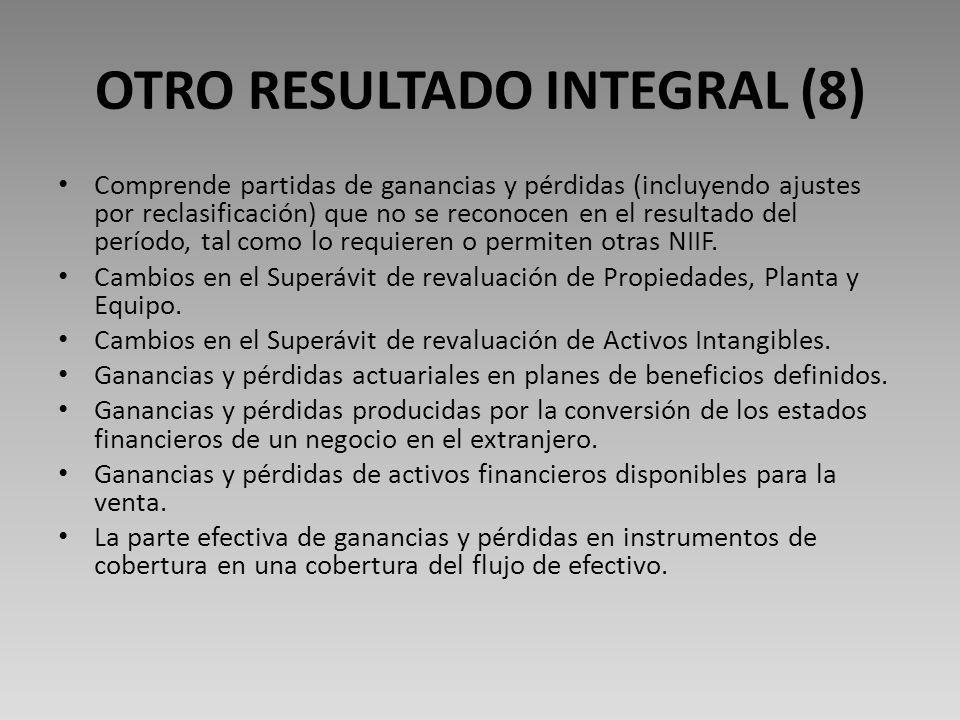 OTRO RESULTADO INTEGRAL (8)