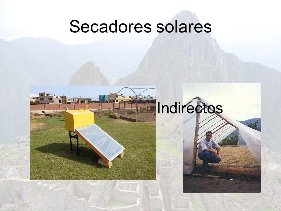 Secadores solares Directos Indirectos
