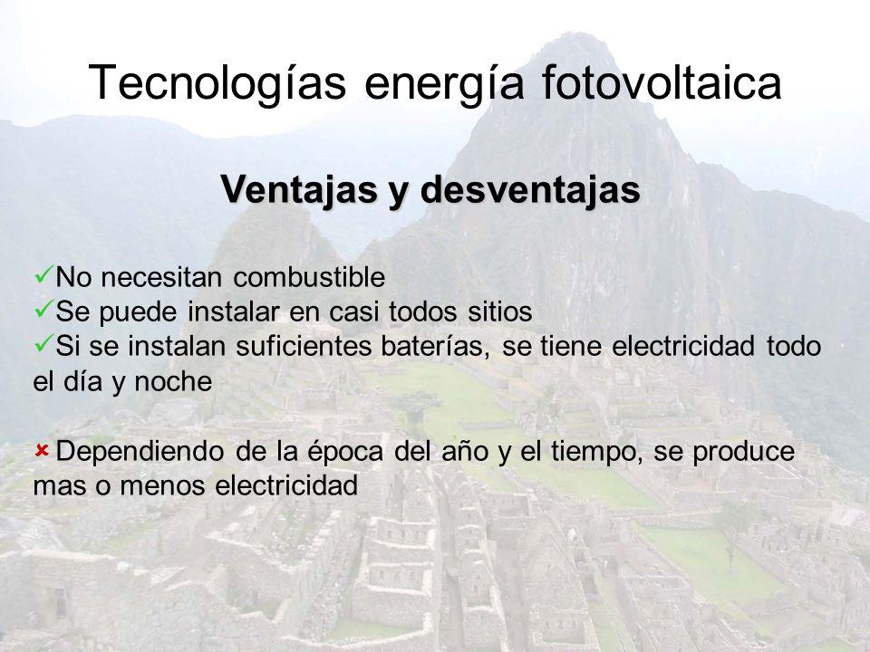 Tecnologías energía fotovoltaica