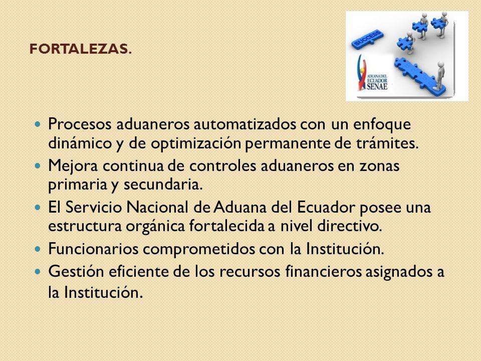 Mejora continua de controles aduaneros en zonas primaria y secundaria.
