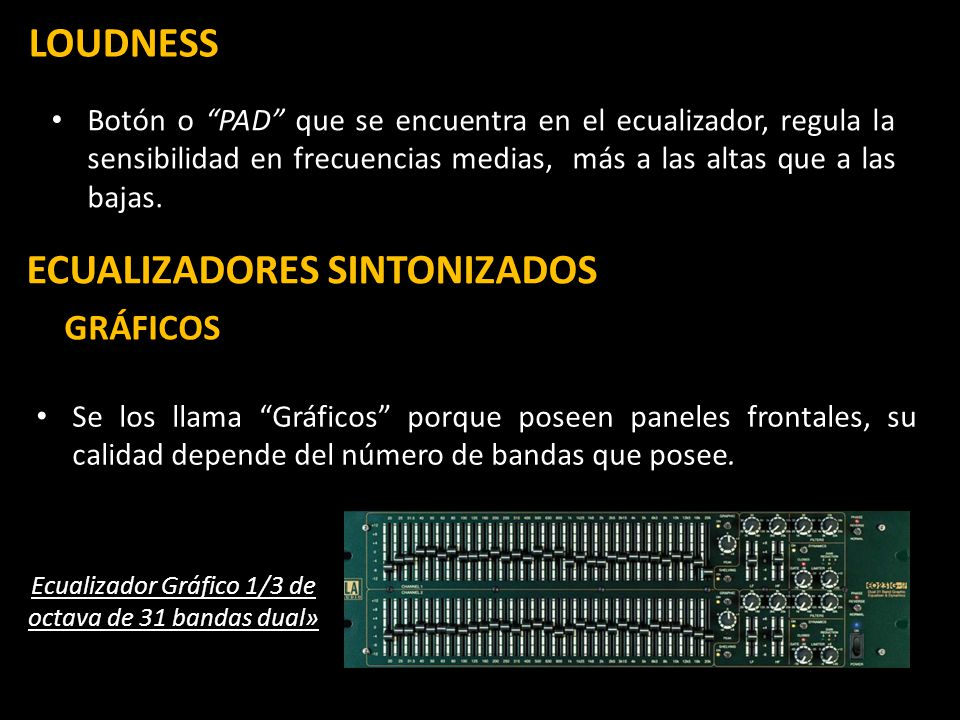 Ecualizador Gráfico 1/3 de octava de 31 bandas dual»