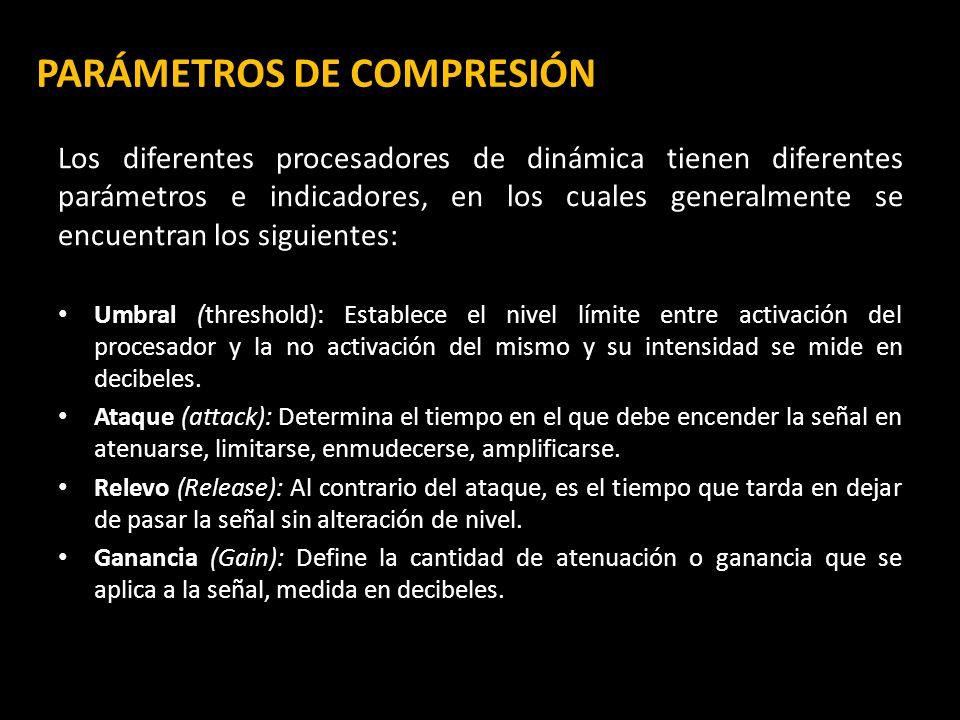 PARÁMETROS DE COMPRESIÓN