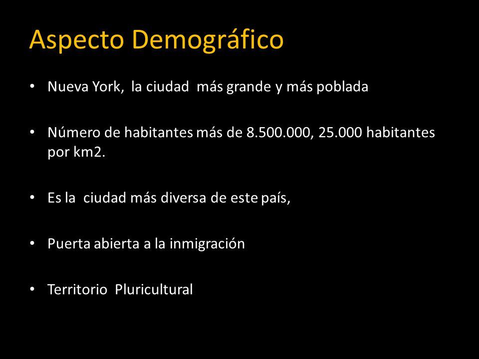 Aspecto Demográfico Nueva York, la ciudad más grande y más poblada