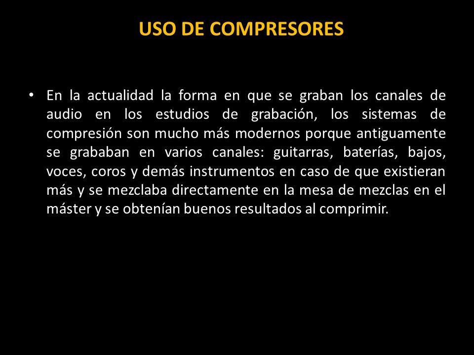 USO DE COMPRESORES
