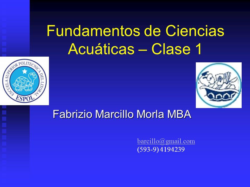 Fundamentos de Ciencias Acuáticas – Clase 1