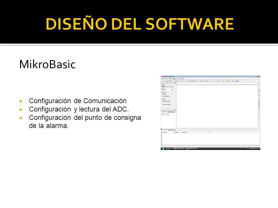 DISEÑO DEL SOFTWARE MikroBasic Configuración de Comunicación