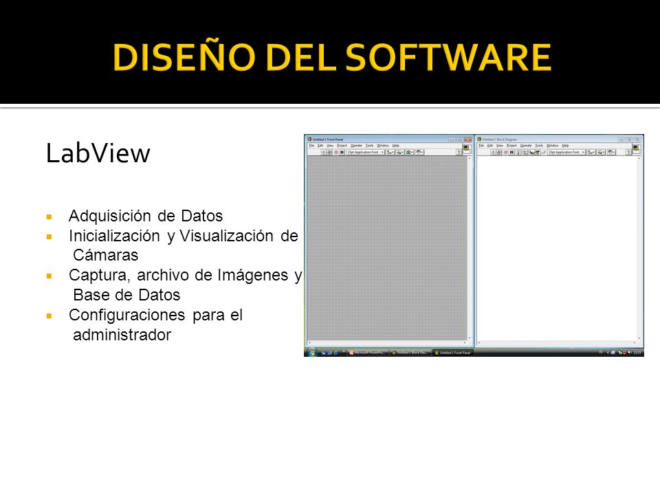DISEÑO DEL SOFTWARE LabView Adquisición de Datos
