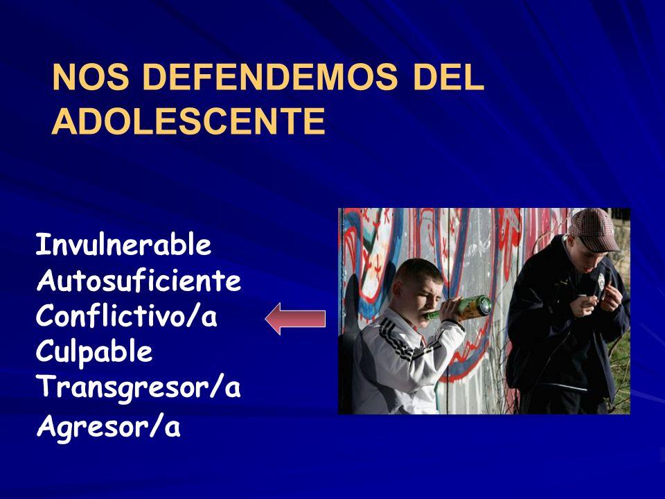 NOS DEFENDEMOS DEL ADOLESCENTE