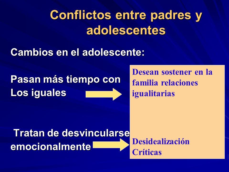 Conflictos entre padres y adolescentes