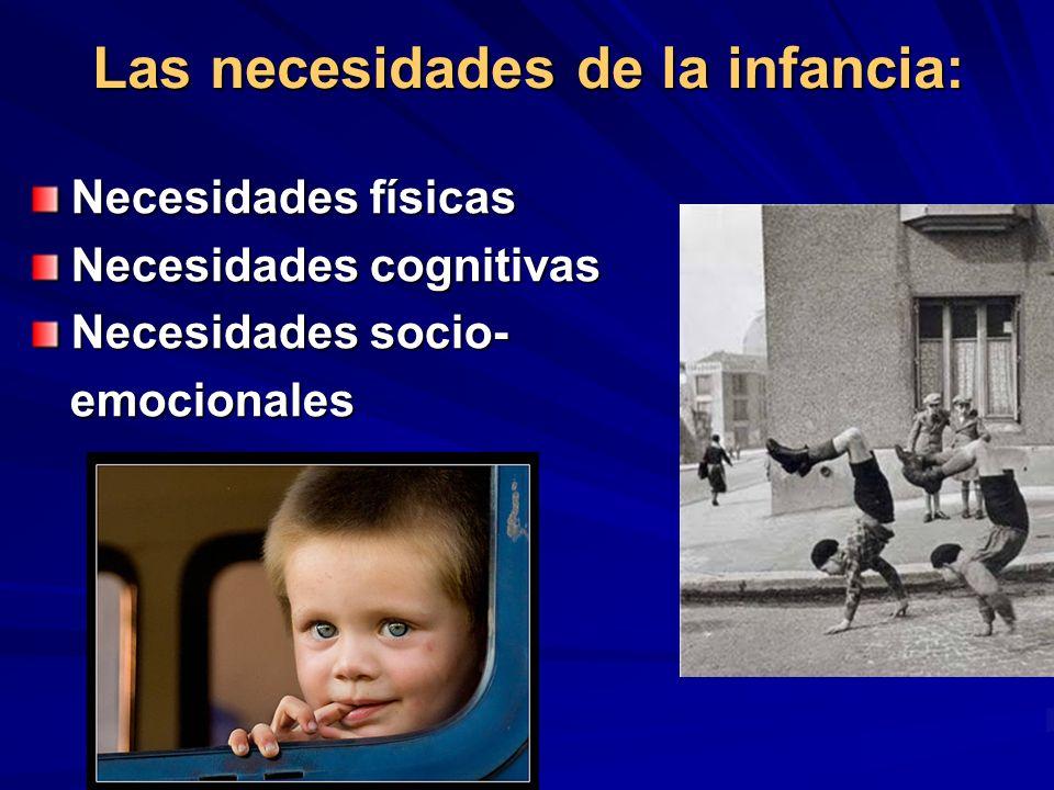 Las necesidades de la infancia: